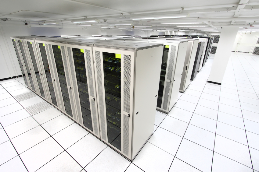 server room with white servers